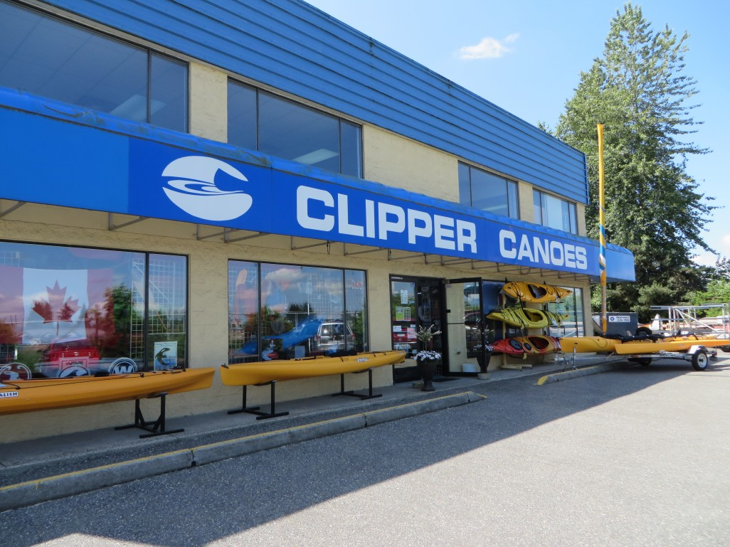 Clipper Canoes Storefront in Abbotsford Canada