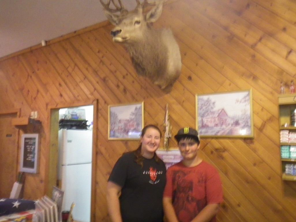 Amber and Tom and their deer