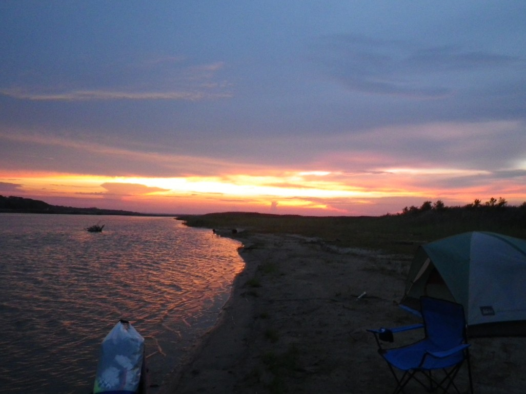 this is why I paddled back, great campsite