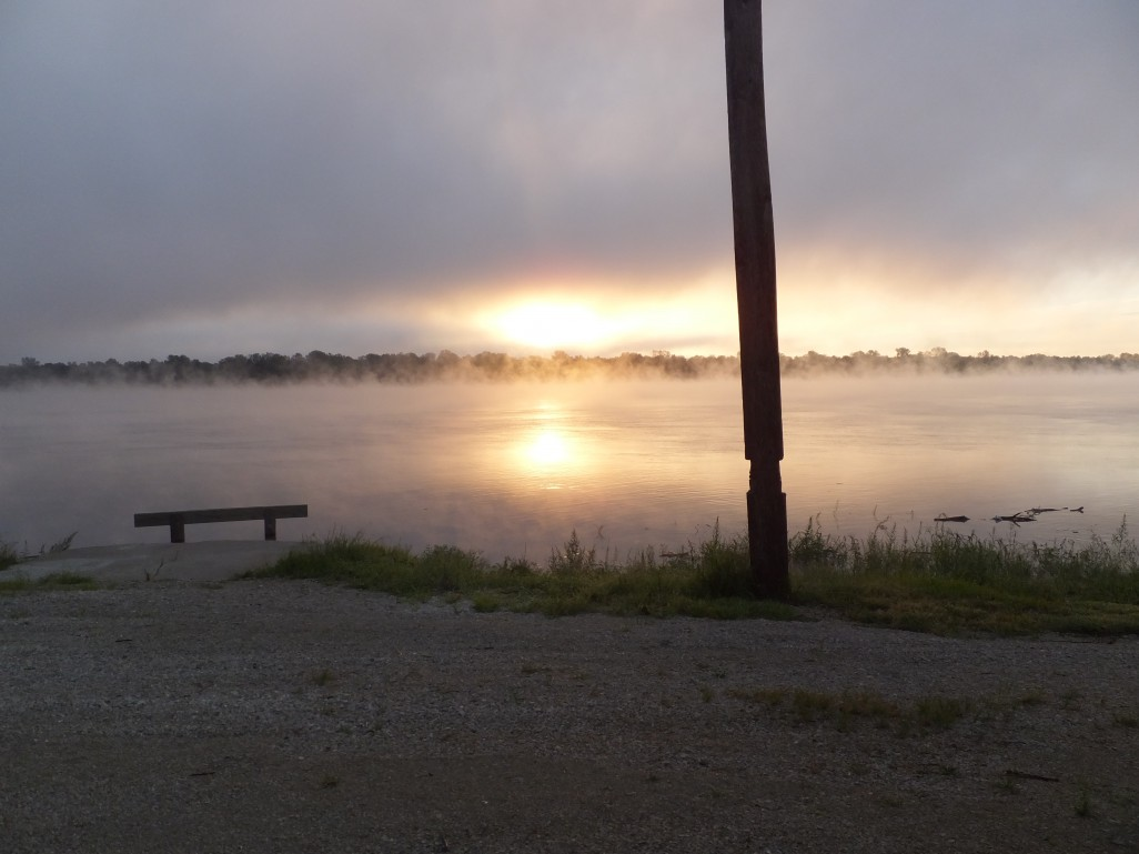morning mist at the club