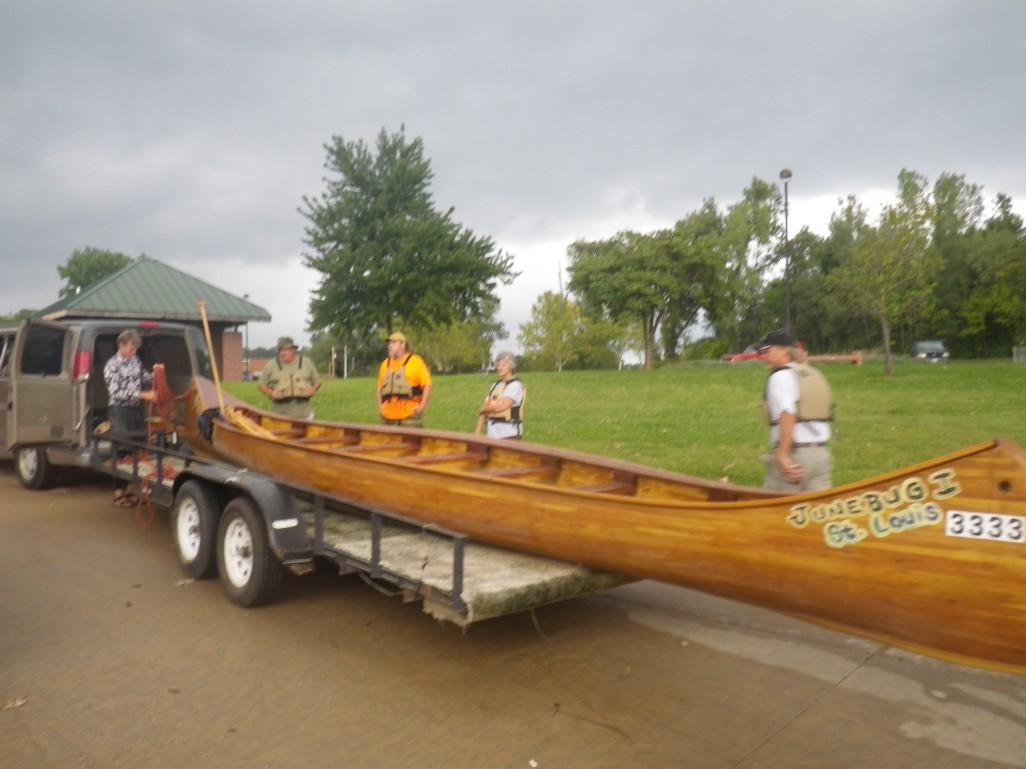 Mike Clark's Junebug, The Helinda has canoe envy